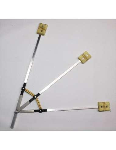 Abanicos fuego plegables - 3 brazos