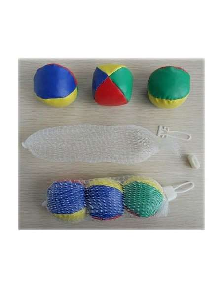 Pack 3 pelotas malabares pequeñas